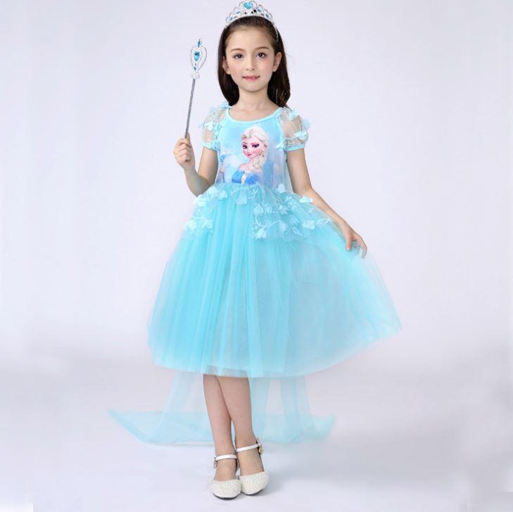 1b2ec3f0fd Princess Sofia Frozen Elsa dress for girls with train