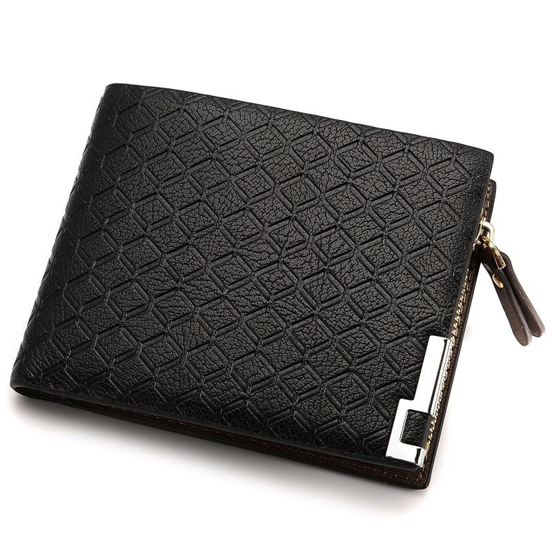 How Do I Get Q Shop Men Short Wallet Men S Zipper Bifold Wallet With High Quality Soft Pu(Black) Intl