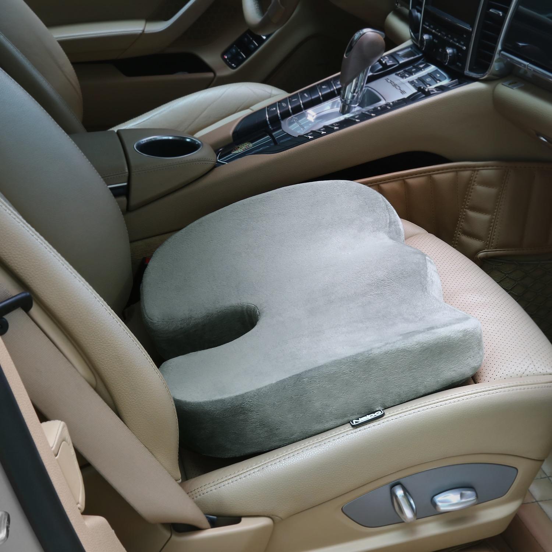 [MGMS-LDU2] Naipo Sciatica Seat Cushion, Orthopedic Comfort Memory Foam Coccyx Seat Cushion for Sciatica, Back and Tailbone Pain Relief - Grey