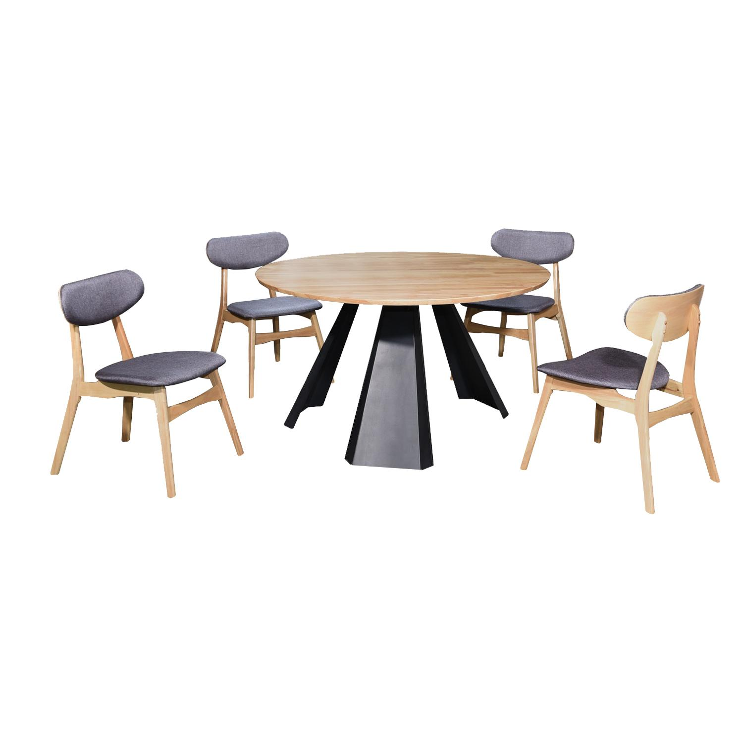 LIVING MALL_Fanni Dining Set 1+6_FREE DELIVERY