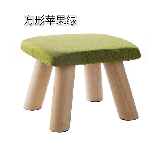 Fashion Fabric Stool Household Solid Wood Sofa Stool Footstool Living Room Teapoy Table Low Stool Small Bench