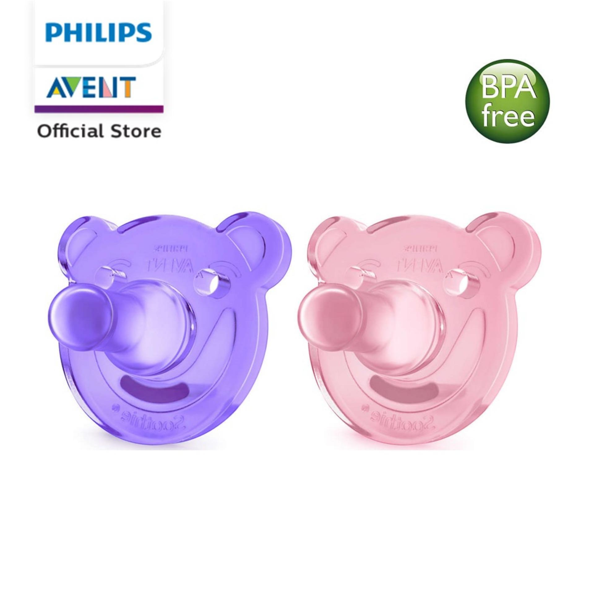 Philips Avent Soothie Pacifiers 3-18m Purple By Philips Avent Official Store.