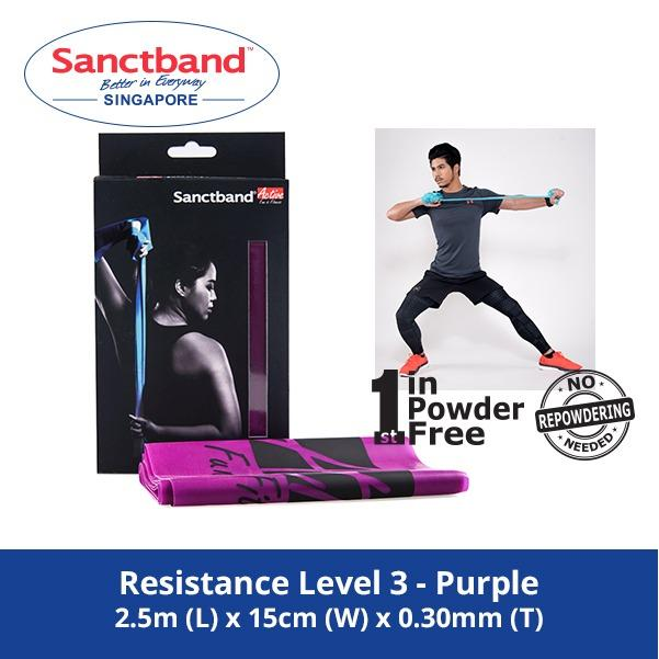 Sanctband Active Resistance Exercise Band Resistance Level 3 Purple Singapore