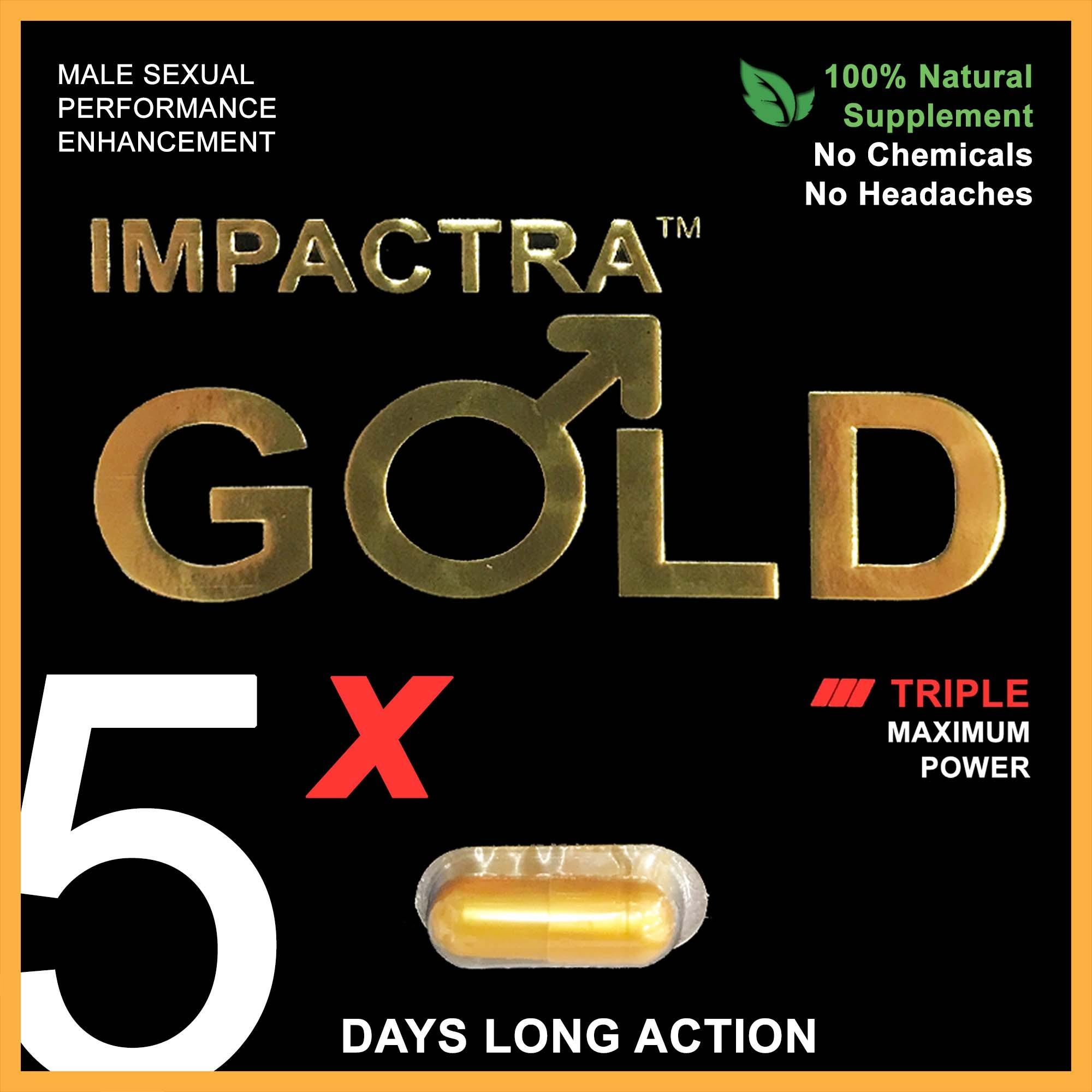 Buy Impactra Gold 5X 100 Natural Sexual Enhancement Tongkat Ali One Capsule 5 Days Long Action