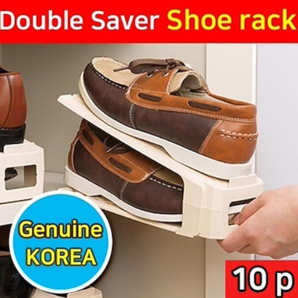 Veras 10P Shoe Slots Space Saving Shoe Organizer Shoe Rack Original Korea Cabinet Plastic Free Shipping