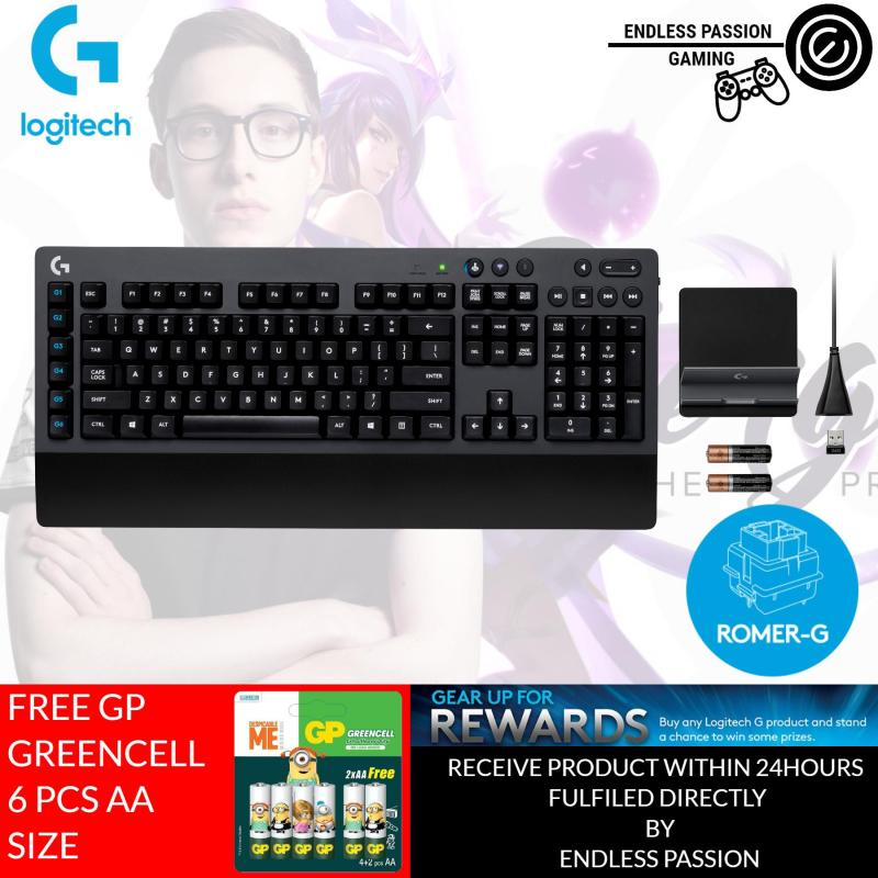 Logitech G613 LIGHTSPEED Wireless Mechanical Gaming Keyboard, Multihost 2.4 GHz + Blutooth Connectivity Singapore