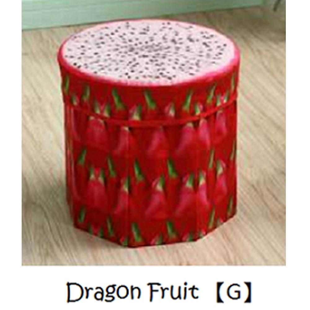 Jiji Fruits Round Foldable Storage Stools 30cm - Benches / Furniture / Hallway Entry (sg) By Jiji.