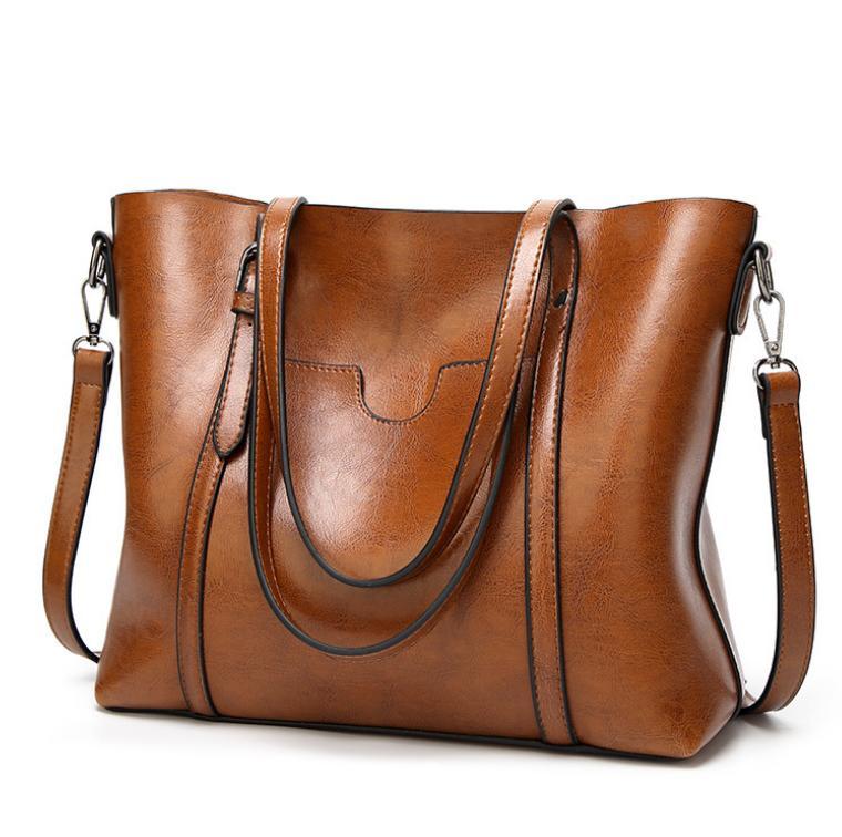 High Quaility Simple Oil wax Womens Leather Handbags Luxury Lady Crossbody Bag Casual Messenger Shoulder bag 8 Colors