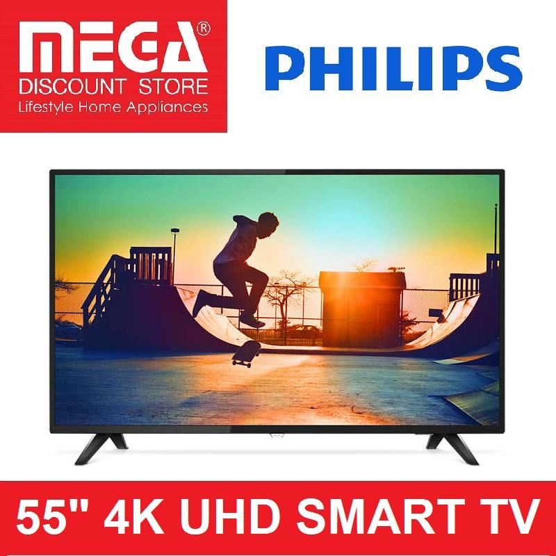 "PHILIPS 55PUT6103 55"" UHD 4K SMART TV + FREE FIXED-BRACKET WALLMOUNT"