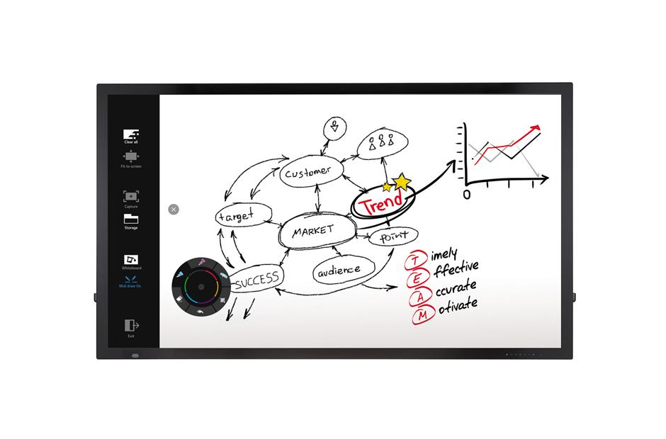 Lg 75tc3d In-Built P-Cap Touch With Embedded Writing Solution By Emkl Enterprise.