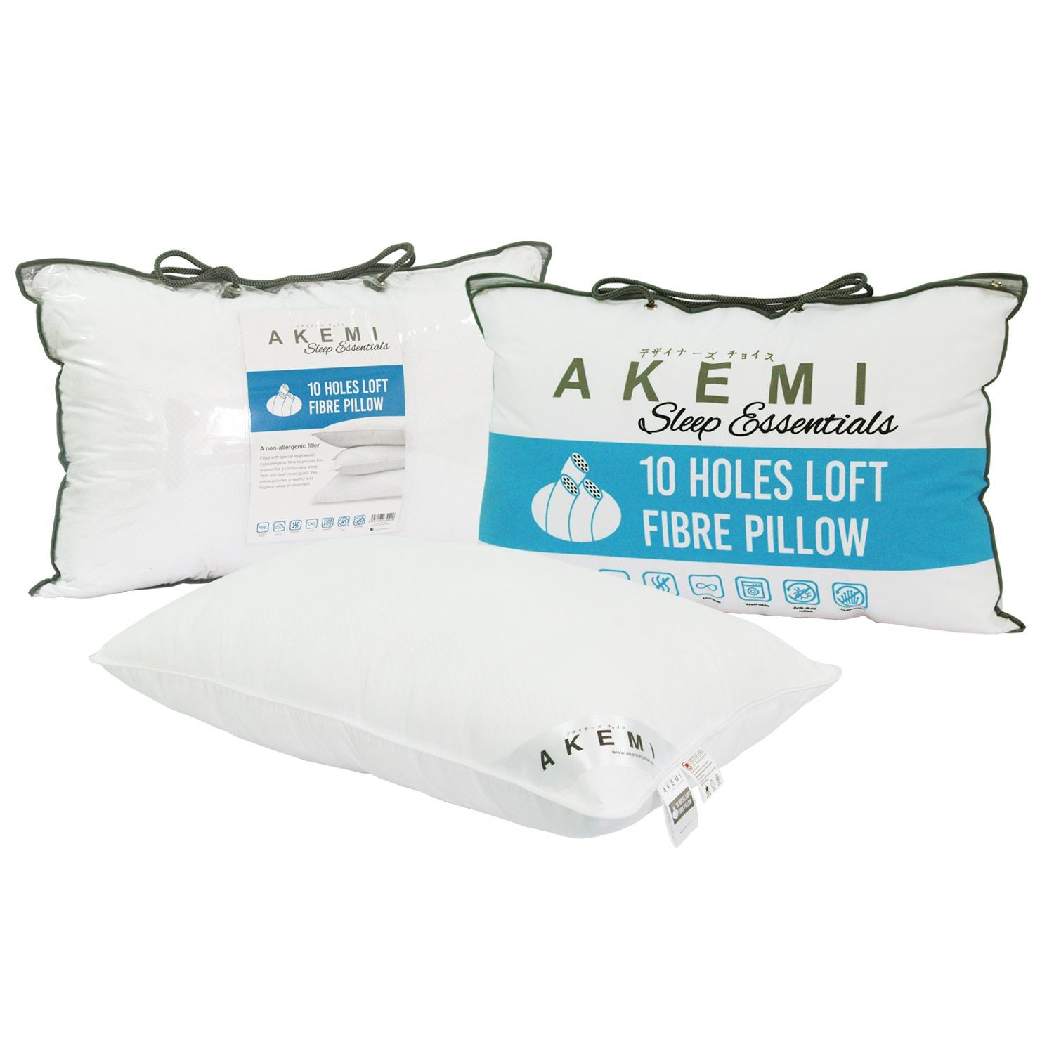 AKEMI Sleep Essentials 10 Holes Loft Fibre Pillow