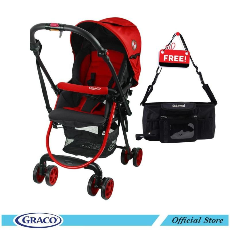 Graco Citilite R(Red Poppy) FREE Kinds Of Mind Stroller Organizer Cup With Holder Singapore