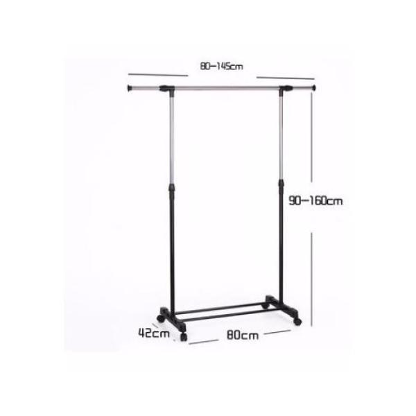 Stainless steel retractable cool hanger drying rack floor single pole drying rack indoor and outdoor clothes rack Bedroom hanger