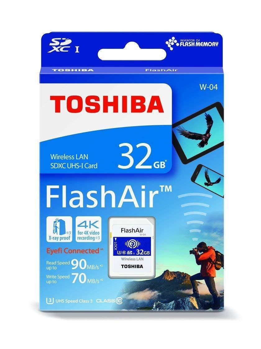 Toshiba Flashair W-04 - 32gb Wireless Wifi Sdhc Memory Card By Edslrs Sg.