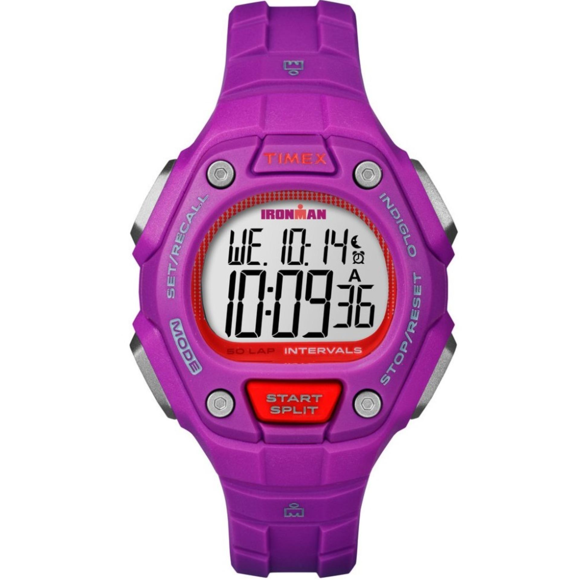 Price Timex Ironman® Classic 50 Lap Women S Mid Size Pink Resin Strap Tw5K93400 On Singapore