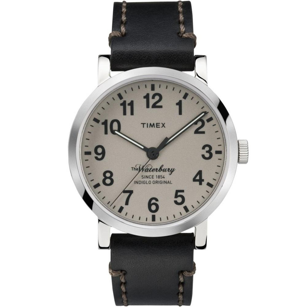 Sale Timex The Waterbury Black Leather Strap With Tan Dial Tw2P58800 Timex Cheap