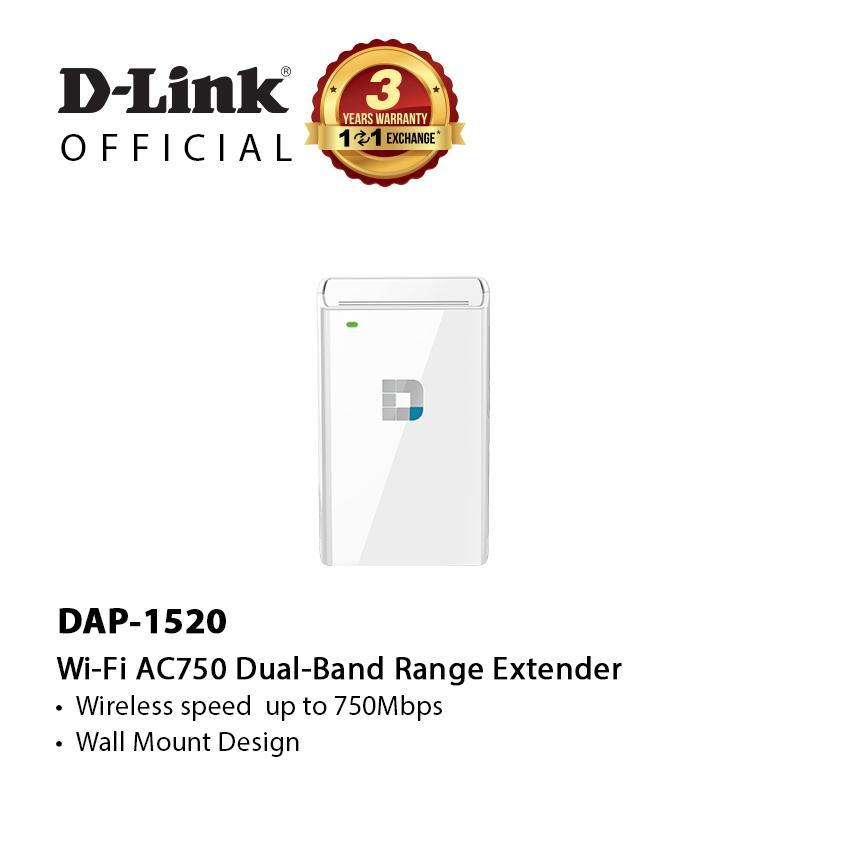 D-Link Dap-1520 Ac750 Wireless Dualband Range Extender By D-Link Official Store.