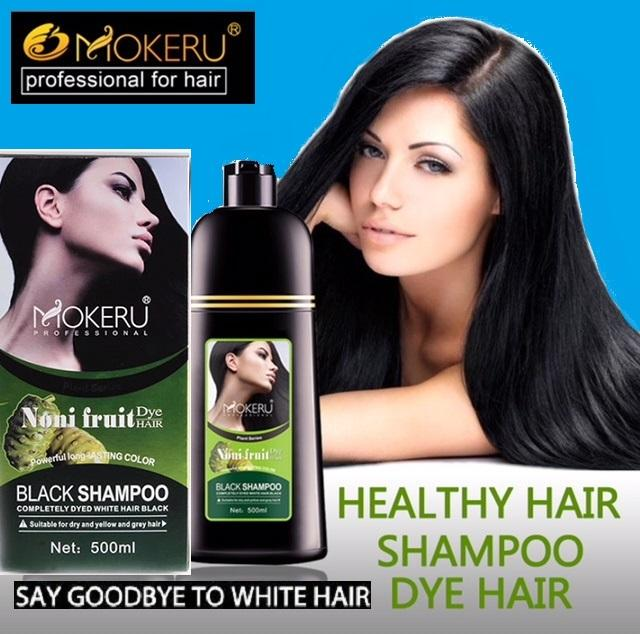 Mokeru Noni Herbal Black Hair Magic Fast Dye Shampoo 500ml Say Goodbye With White Hair In 7mins By Gemmarella.