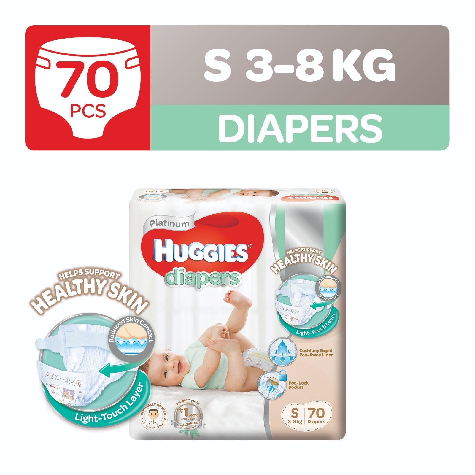 Review Huggies Platinum Diapers S 70Pcs Singapore