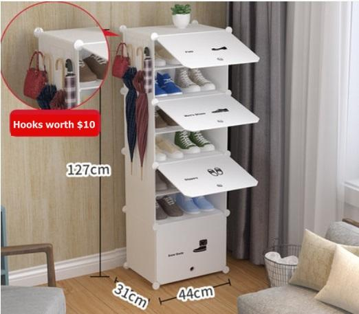 Creative Multi-purpose Shoes Rack Cabinet Cubes Stack-able DIY / Modular