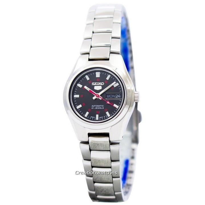 Best Offer Seiko 5 Automatic 21 Jewels Women S Silver Tone Stainless Steel Strap Watch Symc27K1