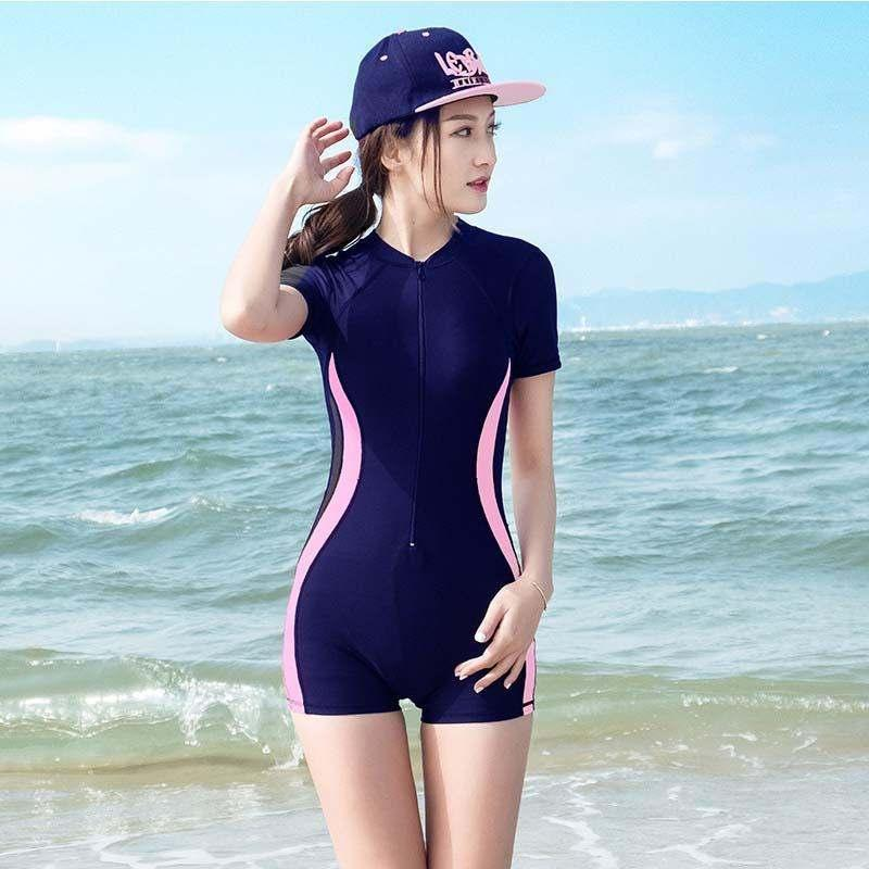 Official Website New One Piece Swimsuit 2019 Swimwear Women Push Up One-piece Bathing Suit Uniform Skirt Cover Sexy Large Size Korean Solid Swimming Body Suits