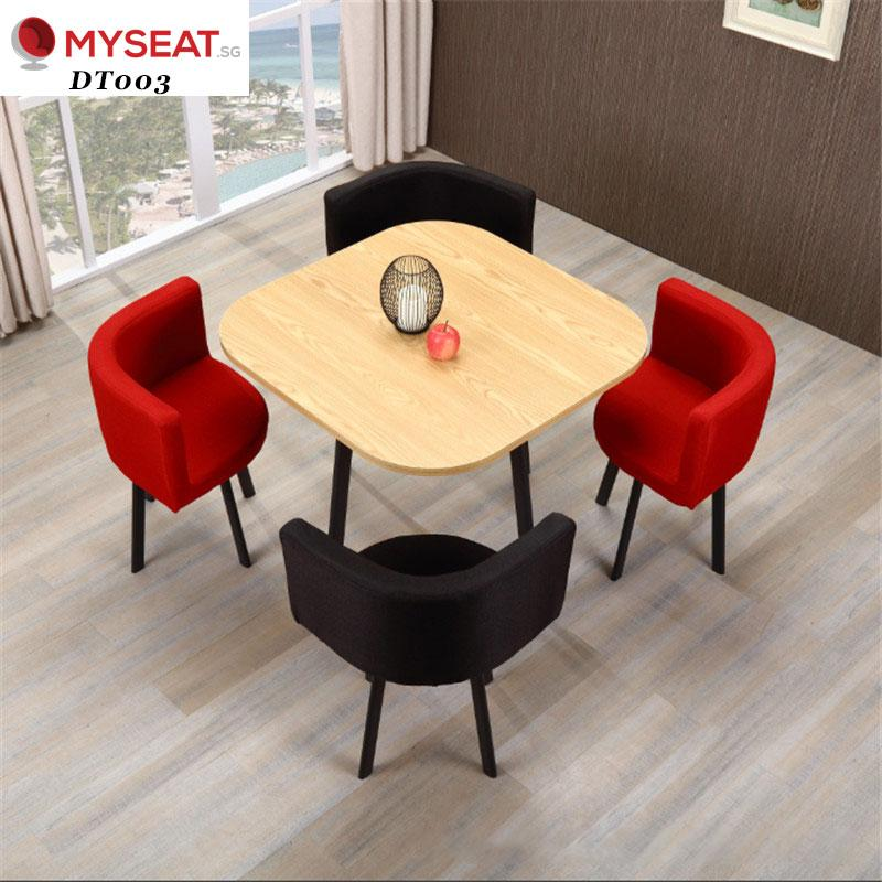 Minimalist Dining Table Set / Discussion table with 4 Chairs