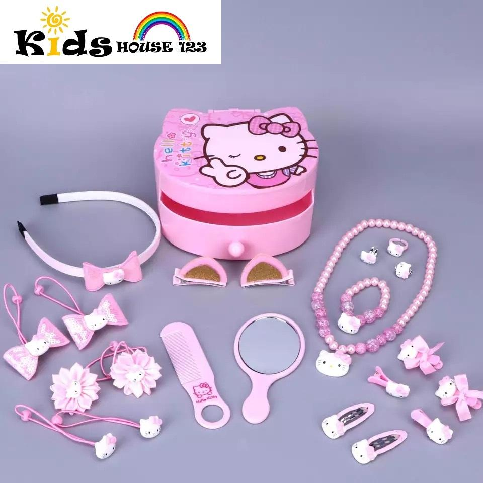 b0852ee74 23-piece Hello Kitty Jewelry / Hair Accessories Gift Set w Box (Big)