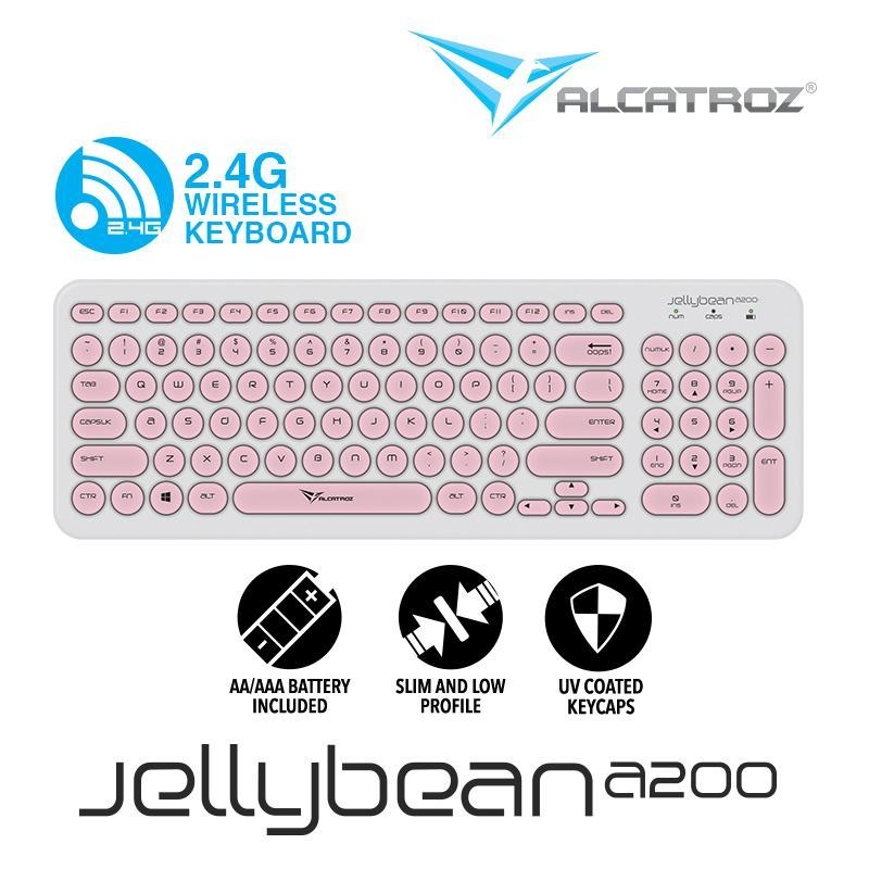 Alcatroz 2.4G Wireless keyboard JellyBean A200 Singapore