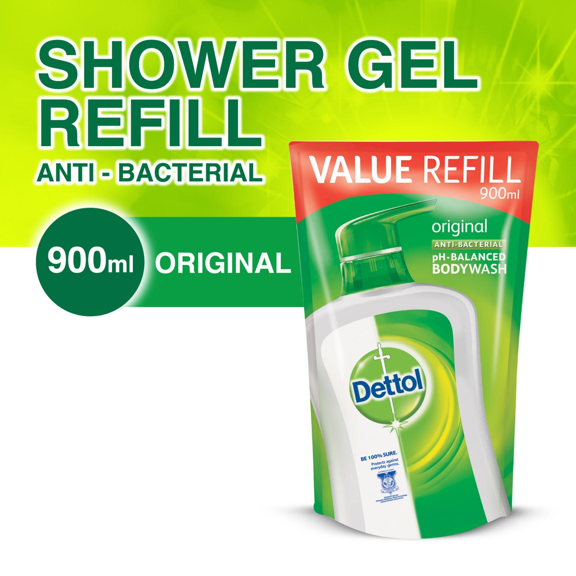 Dettol Anti-Bacterial Body Wash Original Refill 900g By Dettol.