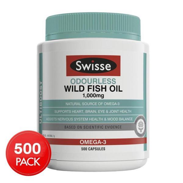 Buy Swisse Ultiboost Odourless Wild Fish Oil 1000mg 500 Capsules January 2022 Singapore