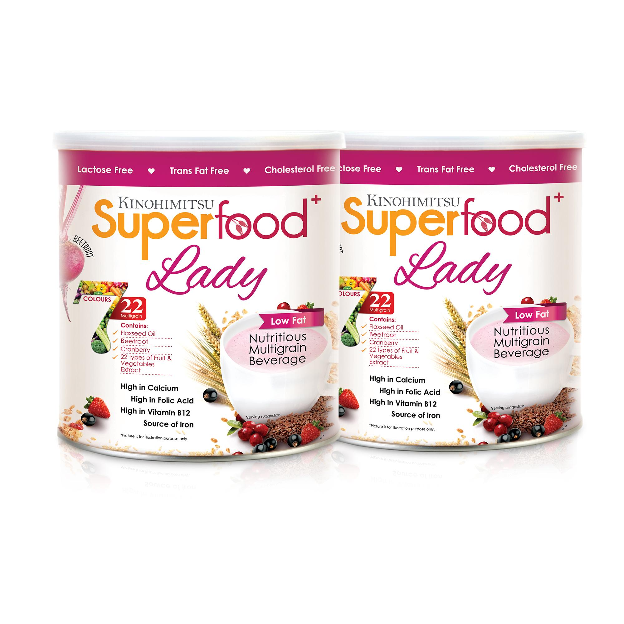 Kinohimitsu Superfood+ Lady Tin 500g Twin pack