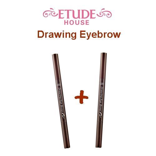 2 pcs X Etude House Drawing Eyebrow - 01 Dark Brown