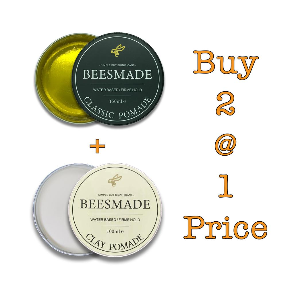 *bundle Deal* Beesmade Hair Classic Pomade + Clay Pomade.