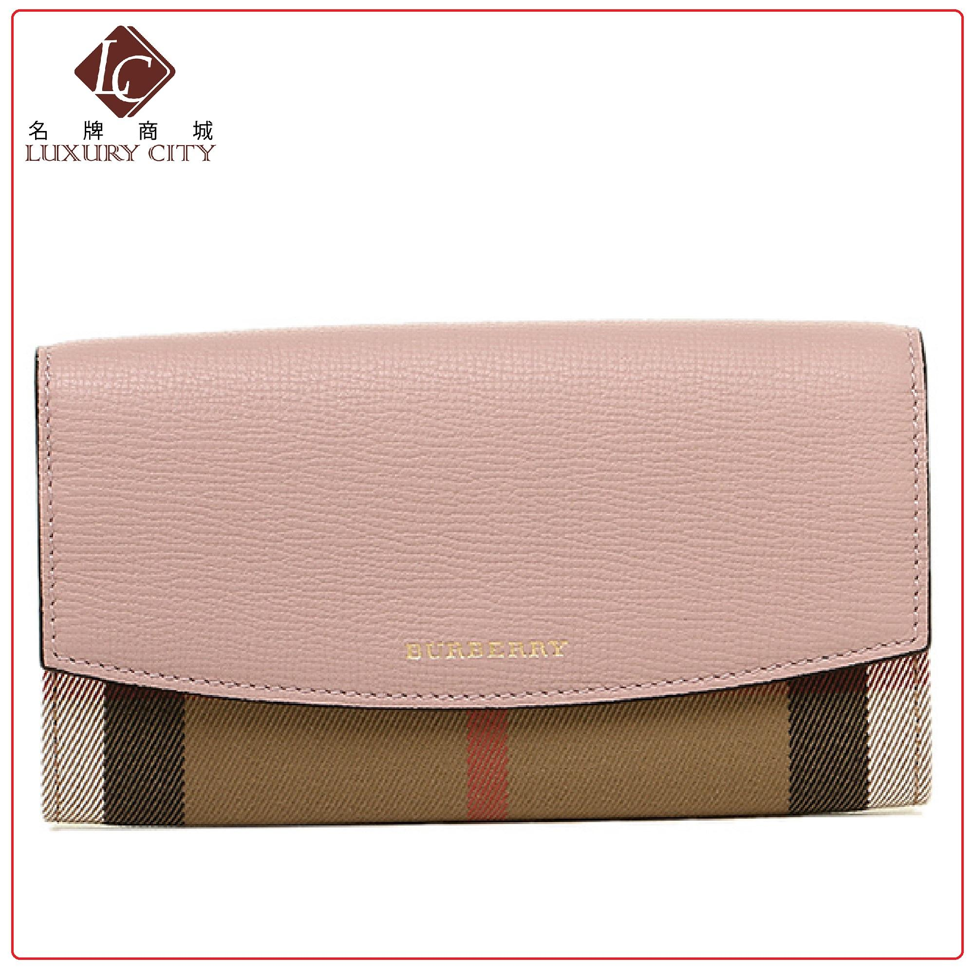 8fe1ea1574ca House Check and Leather Continental Wallet BURBERRY-3996860