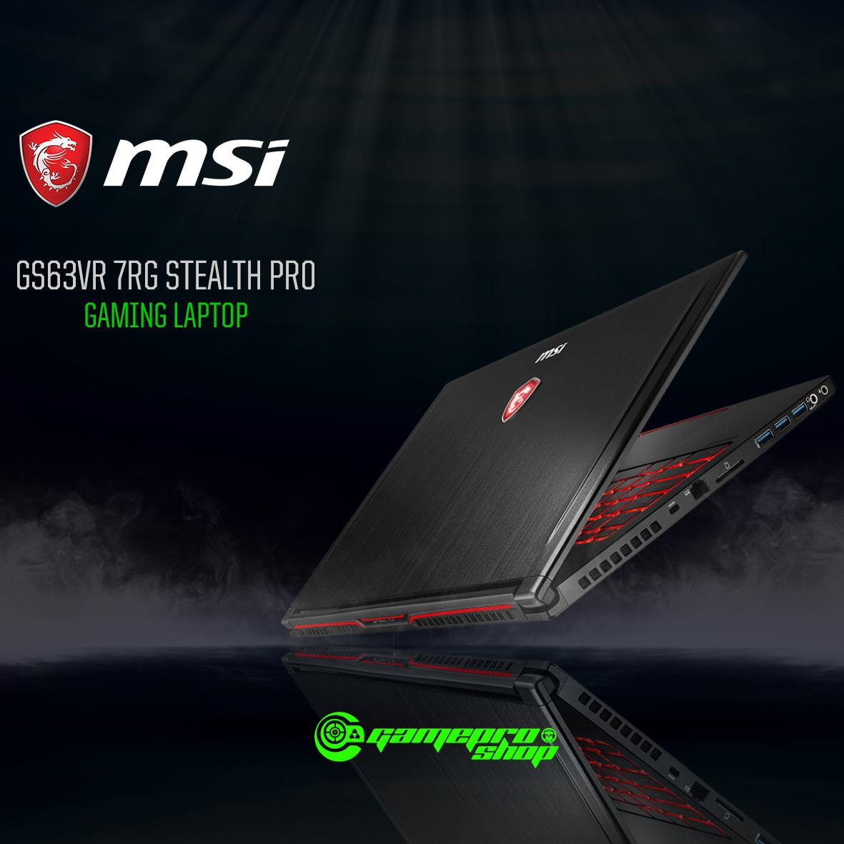 MSI GS63VR 7RG Stealth Pro-086SG (I7-7700HQ/16GB DDR4/256GB SSD +2TB HDD/8GB NVIDIA GTX1070) GAMING LAPTOP *COMEX PROMO*