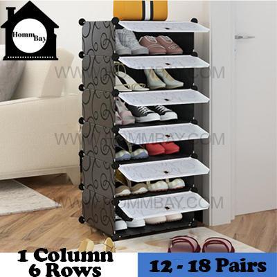DIY Shoe Shoes Rack Storage Drawers Multi Purpose Modular Organizer Plastic Cabinets I BFTWF Series I 1 Column 6 Rows