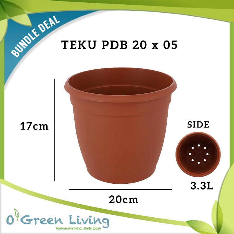 [Bundle of 05] TEKU PDB 20 POTS (20cm W x 17 cm H)