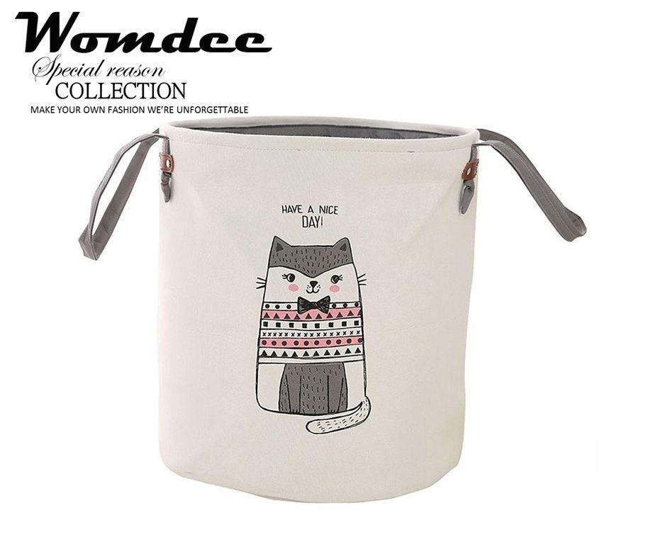 Womdee Foldable Round Home Organizer Cotton Storage Baskets Bin For Baby Nursery,toys,laundry,baby Clothing - Intl By Womdee.