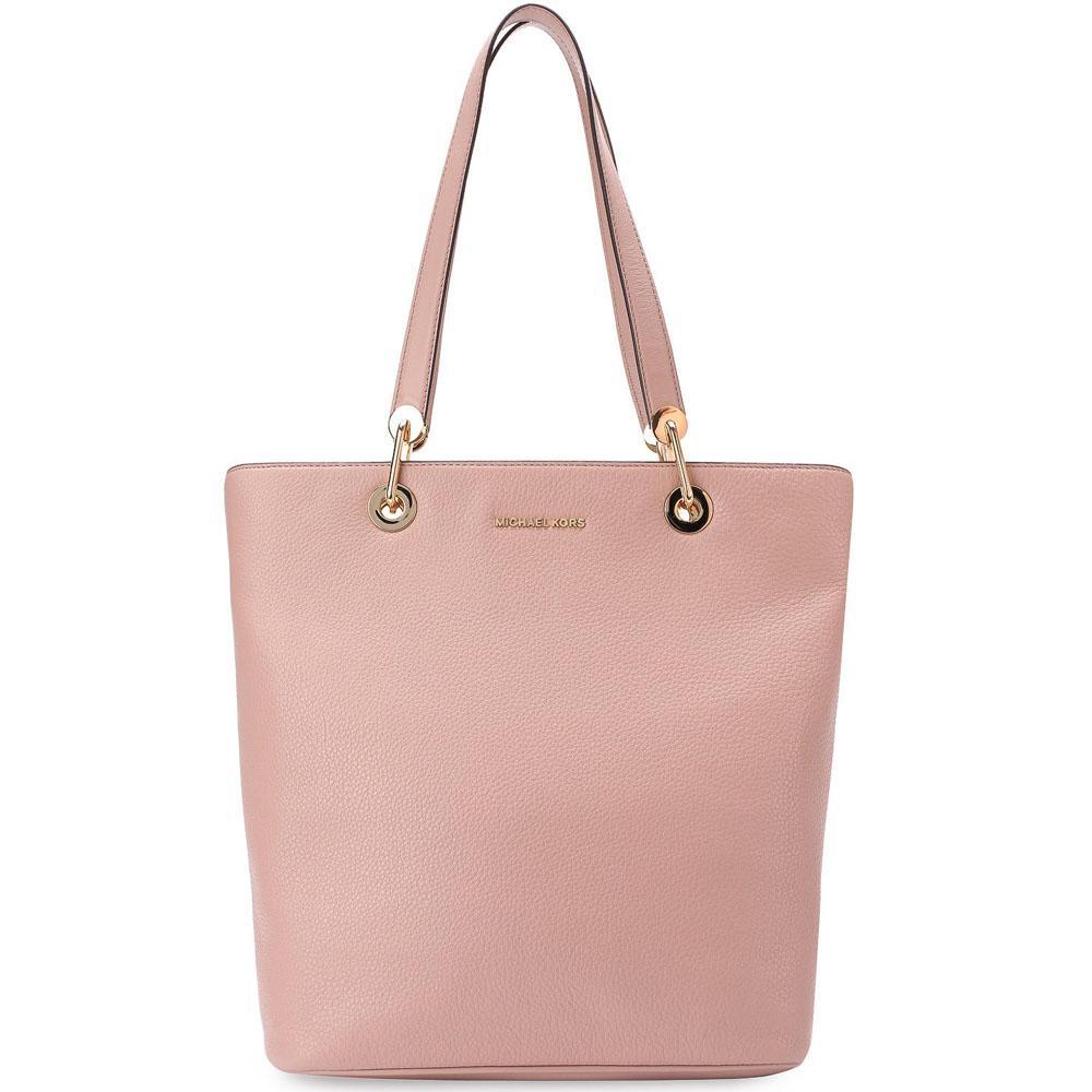 Buy Michael Kors Raven Large North South Top Zip Leather Tote Handbag Fawn Beige N*d* 30S7Grxt3L Gift Receipt Online