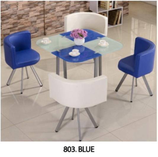 JIJI Spacious Coffee Dining Set - Glass (Round/Square) (1 Table W/ 4 Chairs) (Free Installation) - Tables / Furniture / Kitchen (SG)