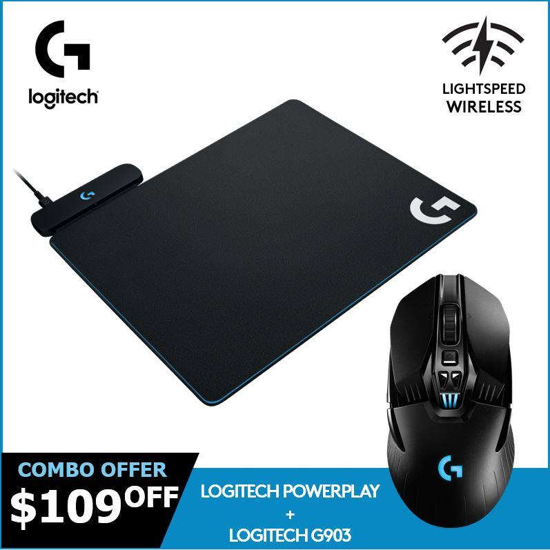 Price Logitech G903 Lightspeed Wireless Gaming Mouse G Powerplay Wireless Charging System Bundle Logitech Original