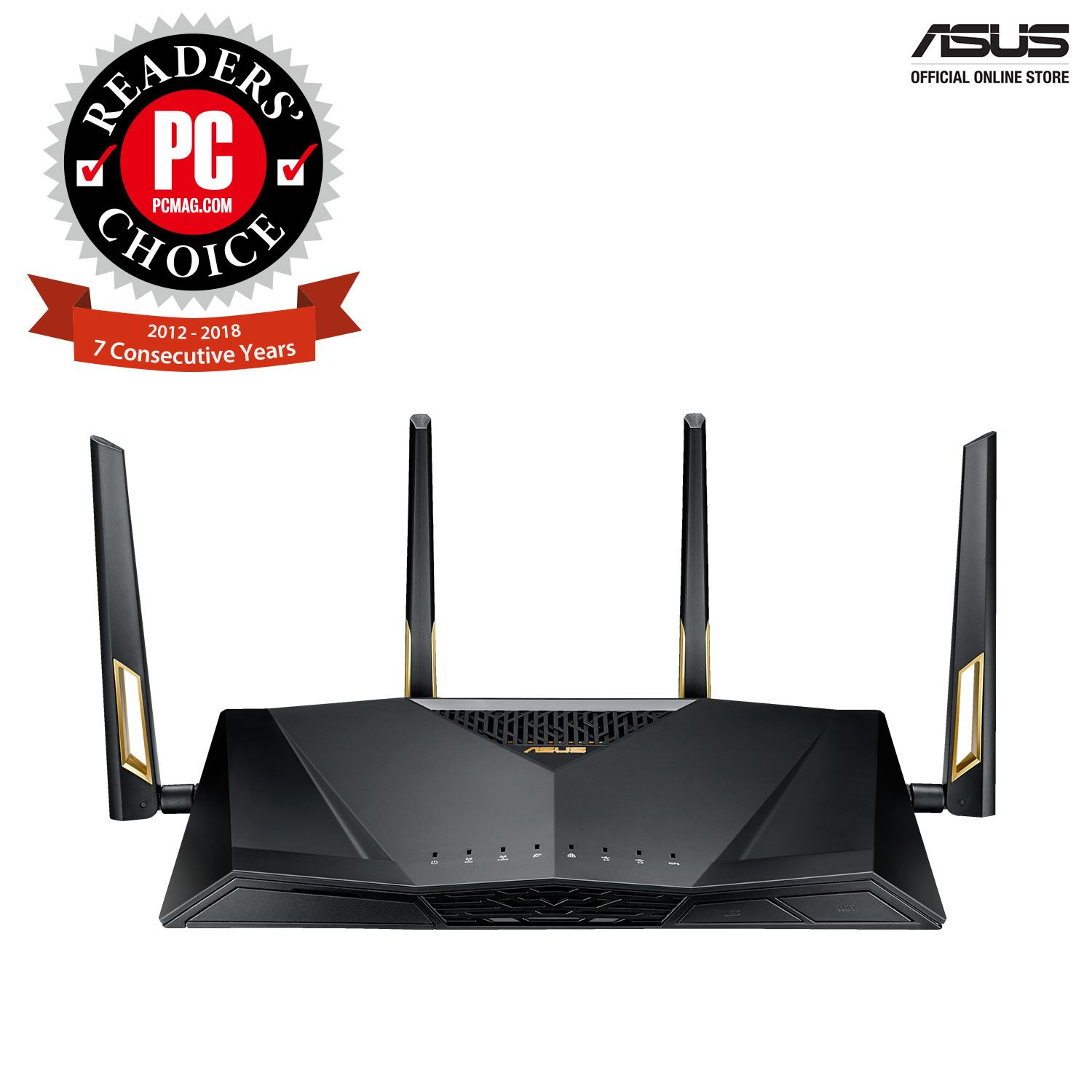 ASUS RT-AX88U AX6000 Dual Band 802 11ax Wifi 6 Router supporting MU-MIMO  and OFDMA technology, with AiProtection Pro network security powered by  Trend