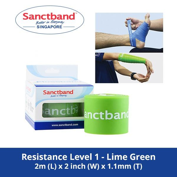 Sale Sanctband 2 Inch 2M Flossband Resistance Level 1 Lime Green Sanctband Original