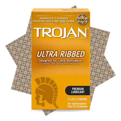 Trojan Ultra Ribbed 12s Singapore