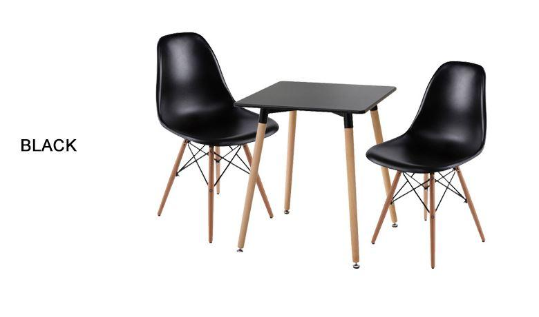 Jiji Eames Square Dining Table Set - 60x60cm (1+2) (free Installation) / Furniture / Tables / Kitchen (sg) By Jiji.