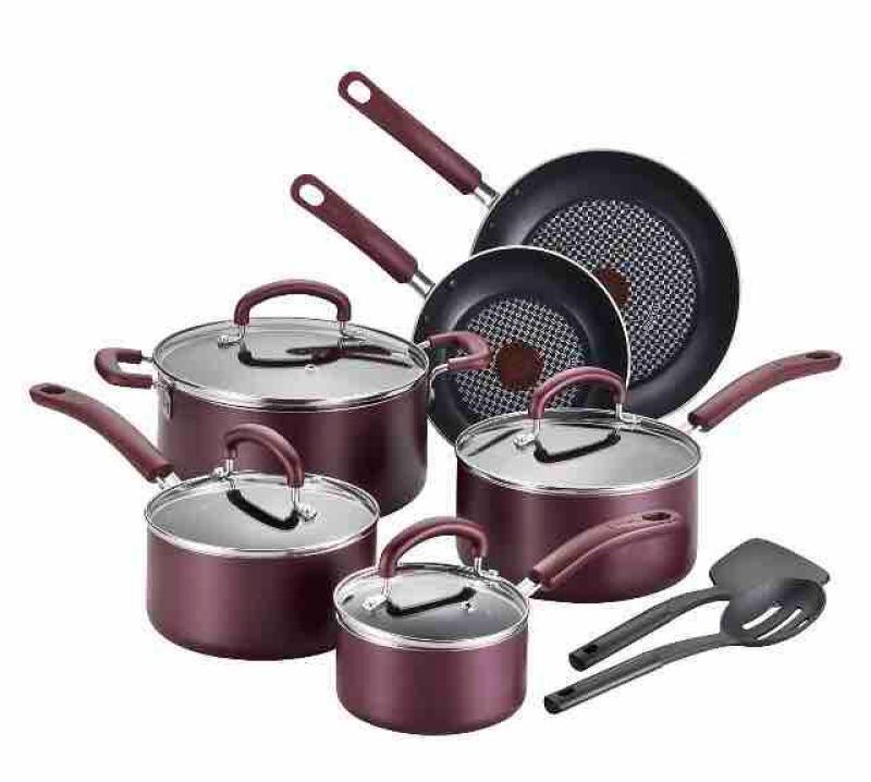 T-fal Color Luxe Hard Titanium 12pc Cookware Set Singapore
