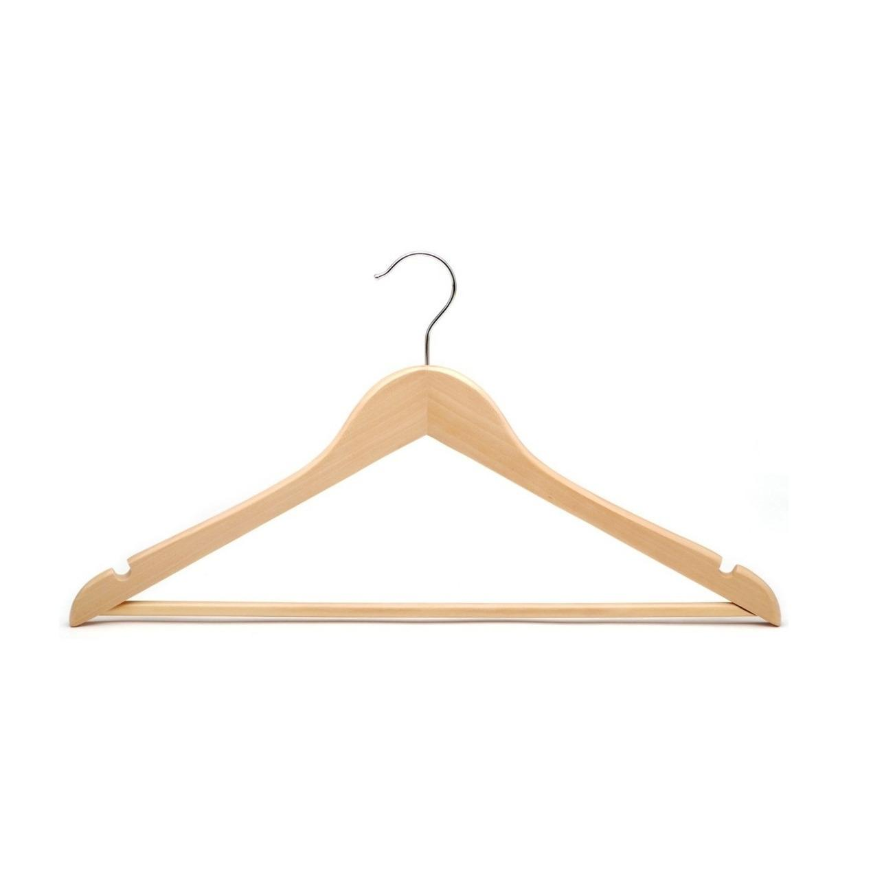 Store 10 Piece Varnished Premium Wood Clothes Hanger Natural Brown Filtech On Singapore