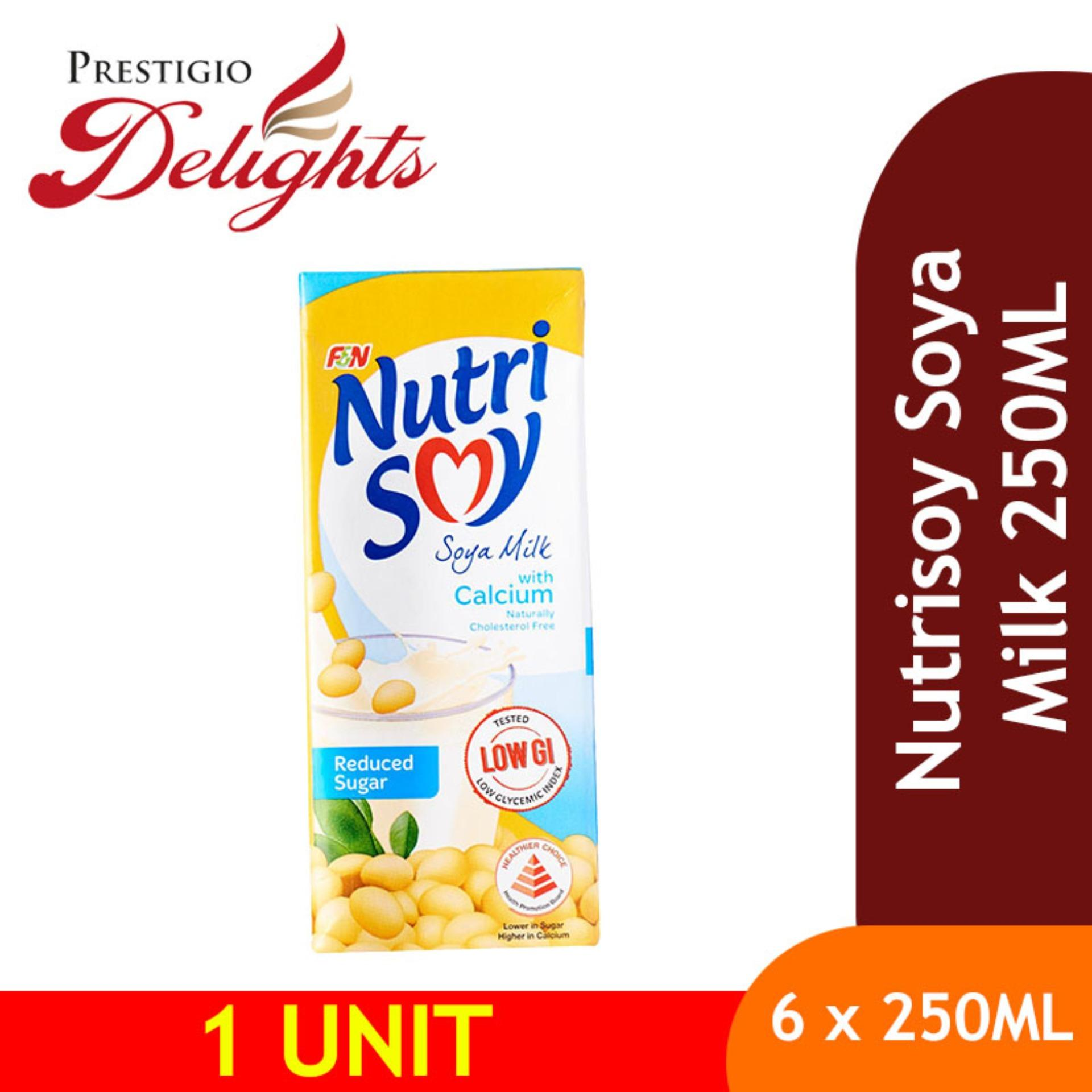 Nutrisoy Soya Milk (6x250ml) By Prestigio Delights.