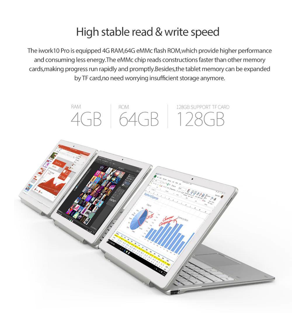 ALLDOCUBE iWork 10 Pro 2 in 1 Tablet PC (with Keyboard )10 1 inch Windows  10 + Android 5 1 Dual OS Intel Atom x5-Z8350 Quad Core 1 44GHz 4GB RAM 64GB